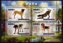 RWANDA 2013 - Chiens - BF De 4Val Neuf // Mnh - Rwanda