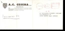 A.C. CESENA  RACCOMANDATA VIAGGIATA CON TIMBRO ROSSO 1995 - Calcio