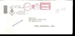 A.S. SORA  RACCOMANDATA VIAGGIATA CON TIMBRO ROSSO 1998 - Calcio