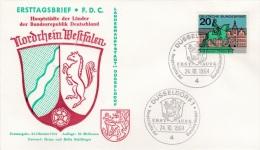 Germany FDC 1964 Hauptstädte Der Bundesländer (G81-65) - [7] Federal Republic