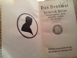 Alt Deutsch HEINRICH HEINE Das Denkmal 1912 Briefe Aufsätze Gedichte Reisebilder Denkwürdigkeiten Langenwieschen Brandt - Livres, BD, Revues