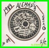 ALEMANIA  DBR.  MONEDA DE 10 DM CONMEMORATIVA  AÑO 1989- G  PROOF - [10] Conmemorativas