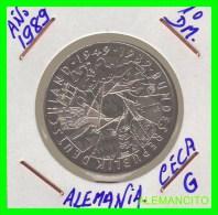 ALEMANIA  DBR.  MONEDA DE 10 DM CONMEMORATIVA  AÑO 1989- G - [10] Conmemorativas