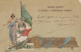 REGGIMENTALI - 51° REGGIMENTO FANTERIA / CACCIATORI DELLE ALPI / ERRORE CORRETTO / DICITURA GIUNGA GRADITO...  - SX109 - Regimenten