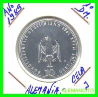 ALEMANIA  DBR.  MONEDA DE 10 DM CONMEMORATIVA  AÑO 1989- J PROOF - [10] Conmemorativas