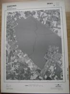 GRAND PHOTO VUE AERIENNE 66 Cm X 48 Cm De 1979  CHIEVRES CHIEVRES - Cartes Topographiques