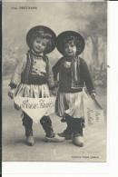 FOLKLORE BRETAGNE ENFANTS COSTUMES TRADITIONNELS - Costumi