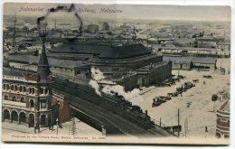 - MELBOURNE - Victoria - Fishmarket And Overhaid Railway, Train, Précurseur, Non écrite, TBE, Scans. - Melbourne