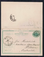 Sweden Postcard Mi Nr P 16 Svaret Betaldt,complete Set, Cancelled, Hernosand To Pilsen Austria RRR - Postwaardestukken