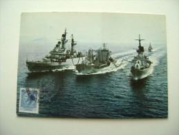 1981 TIMBRO MAXIMUM REGGIO CALABRIA  50° ANNIVERSARIO NAVE SCUOLA AMERIGO VESPUCCI SHIP  MARINA  MILITARE - Guerra