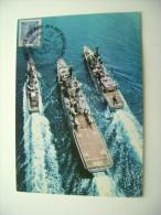 1981 TIMBRO MAXIMUM REGGIO CALABRIA  50° ANNIVERSARIO NAVE SCUOLA AMERIGO VESPUCCI SHIP  MARINA  MILITARE - Warships