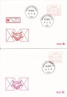 Lot De 4 FDC - Vignettes D´affranchissement P3005 - Série 24012 - 6fr 9fr 14fr 59fr - BRUXELLES1 - 16-11-81 - FDC