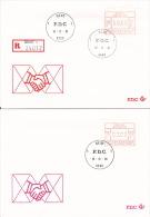 Lot De 4 FDC - Vignettes D´affranchissement P3003 - Série 24012 - 6fr 9fr 14fr 59fr - GENT - 16-11-81 - FDC