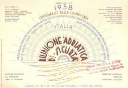 Volantino Originale Per Il Centenario Della Compagnia RIUNIONE ADRATICA DI SICURITA' - Other
