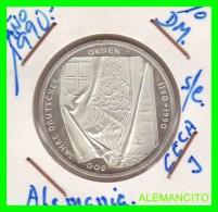 ALEMANIA  DBR.  MONEDA DE 10 DM CONMEMORATIVA  AÑO 1990- J  PROOF - [10] Conmemorativas