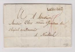 Heimat VD LASSARAZ (La Saraz) 1820-04-01 Brief Nach Neuchatel - Suisse