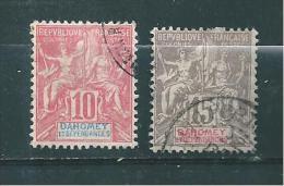 Colonies Francaise  Timbre Du Dahomey De 1900  N°2 Et 3  Oblitérés Tres Beaux - Oblitérés