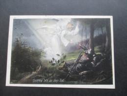 AK / Künstlerkarte 1915 Feldpostkarte. Getreu Bis In Den Tod / Engel. Soldaten. H. Felger - Engel