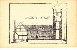 Hannover-Spendenkarte Für Den Ludwigstein,die Burg Der Deutschen Jugend.Litho Signiert. - Hannoversch Muenden