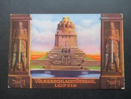 AK Deutsches Reich 1913 Völkerschlacht Denkmal Leipzig. Sonderstempel Weihe Des Völkerschlacht Denkmals - Monuments
