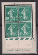SEMEUSE N°159 **/* En BLOC De 4 Avec PLI ACCORDEON Sur 3 TIMBRES - RARE - - Varieties: 1921-30 Mint/hinged