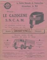 31 1312 TOULOUSE Gazogene SNCAM DE STÉ NATIONALE DE CONSTRUCTIONS AERONAUTIQUES DU MIDI  Et Mr BONNECHAUX Fours - Publicités