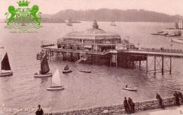 Postcard - Plymouth Promenade Pier, Devon. 1557 - Plymouth