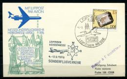 """DDR 1976 Decorativer Luftpostbeleg/Card Mit Mi. Nr.2007 Und SST""""Leipzig BPA-Leipziger Messe,Flugzeug """"1 Beleg - [6] Democratic Republic"""
