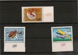 NOUVELLE CALÉDONIE Année 1985 BDF  P.A. N°Y/T : 247/249** - Poste Aérienne