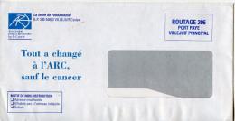Lettre Routage,port Payé Villejuif ARC,santé,cancer,tout A Cjhangé A L'ARC Sauf Le Cancer - Malattie