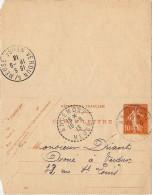 LBL35B- EP CL SEMEUSE CAMEE 10c ANCEMONT / VERDUN 16/9/1913 - Entiers Postaux
