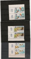 NOUVELLE CALÉDONIE Année 1984 Paire Coins Datés P.A. N°Y/T : 240/242** - Poste Aérienne