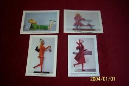 LOT DE 4 CARTES DE  POSTALE LES FIGURINES DE MARIE JEANNE NOUVELLON - Arts