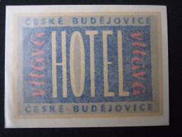 HOTEL CAMPING MOTEL INN VITAVA BUDEJOVICE CSSR CZECH CHEKOSLOVAKIA LUGGAGE LABEL ETIQUETTE AUFKLEBER DECAL STICKER