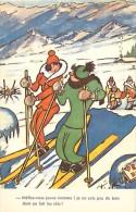 Themes Div -ref M623 - Humour -carte Humoristique -sports D Hiver - Illustrateur - Ski -skieurs -carte Bon Etat - - Sports D'hiver