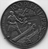 100 PLEKIJZERS BORNEM 7 MAART 1987 - Jetons De Communes