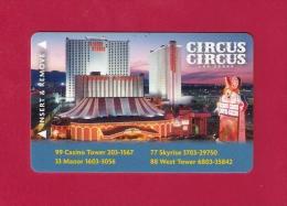 CLE D'HOTEL. CARTE HOTEL CIRCUS  LAS VEGAS - Hotelkarten