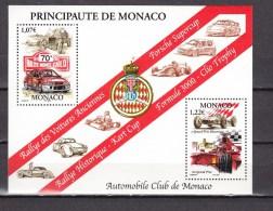 Monaco 2002,2V In Block.automobile Club De Monaco,cars,autos,voitures,coche,MNH/Postfris(L2128) - Auto's