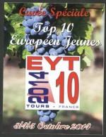 FRANCE 2014 - Tours - TOP 10 Jeunes EYT 10 - étiquette De Vin - Tennis Table Tischtennis Tavolo - Tennis De Table