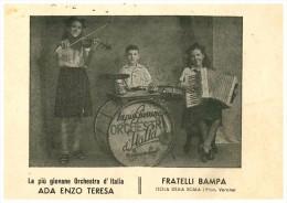 Isola Della Scala Verona Biglietto Pubblicitario Orchestra Fratelli Bampa - Verona