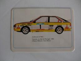 Rally Audi 4  Vencedor Do Rali De Portugal 1984 Hannu Mikkola/ Arne Hertz Portuguese Pocket Calendar 1985 - Calendriers