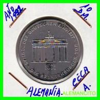 ALEMANIA  - BRD  - MONEDA DE 10 DM  PLATA  S/C  AÑO 1991-A - [10] Conmemorativas
