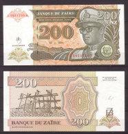 Zaire , 200 Nouveaux Zaires , 1994 , P-61 , UNC - Zaire