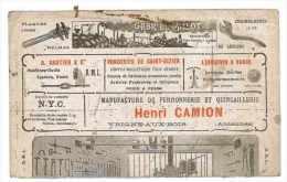 BUVARD FERRONNERIE QUINCAILLERIE HENRI CAMION 09 ARDENNES UNE MOITIE - Buvards, Protège-cahiers Illustrés