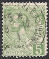 Monaco, 5 C. 1901, Sc # 14, Mi # 22, Used. - Monaco