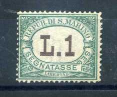 1924 SAN MARINO N.15 SENZA GOMMA (WITHOUT GUM) - Segnatasse