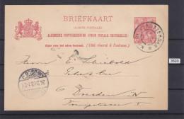 NETHERLANDS 1903, BRIEFKAART, ROTTERDAM 24. MAR. 1903 TO DRESDEN, CARTE POSTALE,, See - Postal Stationery
