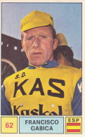 Cyclisme Wielrennen : Chromo PANINI SPRINT 71 - N°62 - Francisco Gabica - Cyclisme
