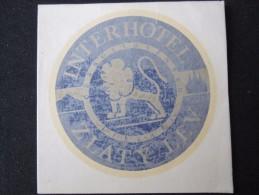 HOTEL CAMPING MOTEL INTERHOTEL ZLATY LEV CSSR CZECH CHEKOSLOVAKIA LUGGAGE LABEL ETIQUETTE AUFKLEBER DECAL STICKER