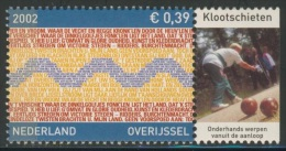 Nederland Netherlands Pays Bas 2002 Mi 2027 ** Overijssel -Province Flag Of Text Of Anthem+ Klootschieten (ball Shooting